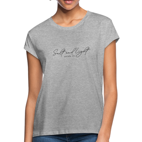 Salt and Light Women's Relaxed Fit T-Shirt - heather gray