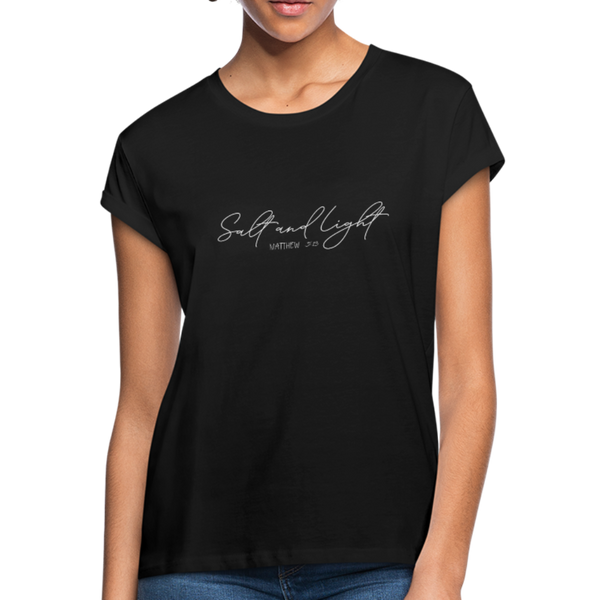 Salt and Light Women's Relaxed Fit T-Shirt - black