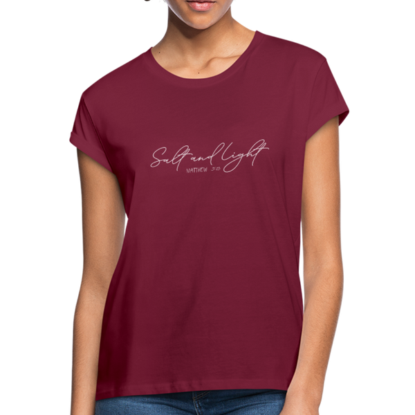 Salt and Light Women's Relaxed Fit T-Shirt - burgundy