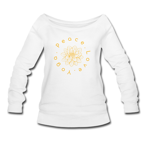 Peace Love Yoga Sweatshirt - white