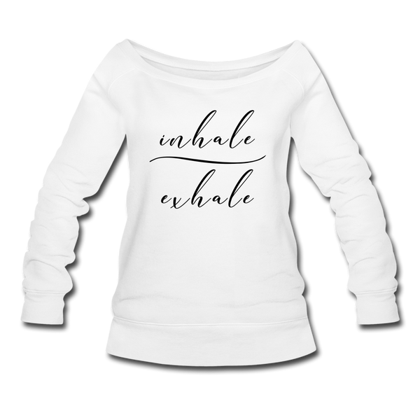 Inhale Exhale Sweatshirt - white