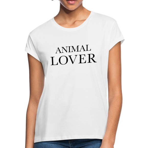 Animal Lover Women's Relaxed Fit T-Shirt - white