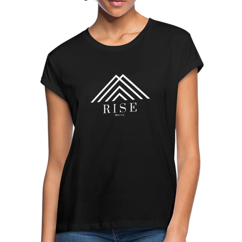 Rise Ezra 10:4 Women's Relaxed Fit T-Shirt - black