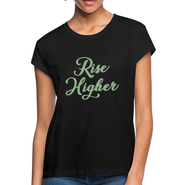 Rise Higher Women's Relaxed Fit T-Shirt - black