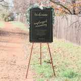 Unplugged Ceremony Sign - Chalkboard with Gold