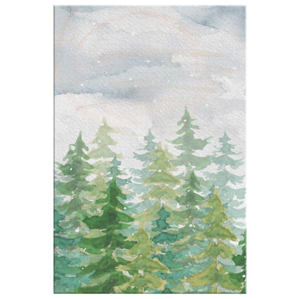 Winter Pine Trees Gallery Wrap Canvas