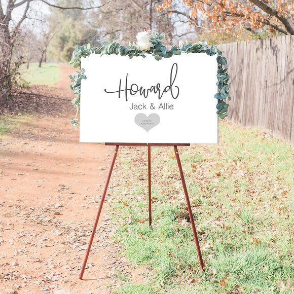 Custome Wedding Welcome Sign