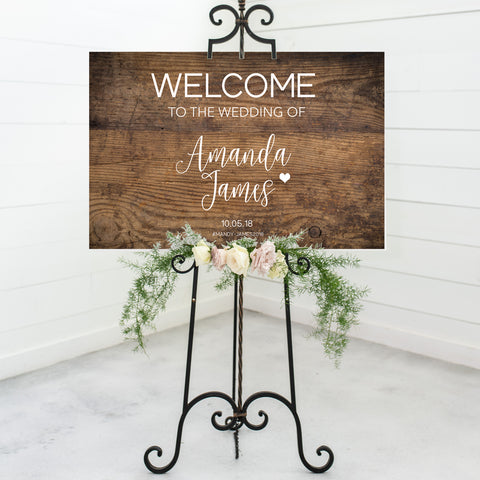 Rustic Wedding Welcome Sign - Vol. 4
