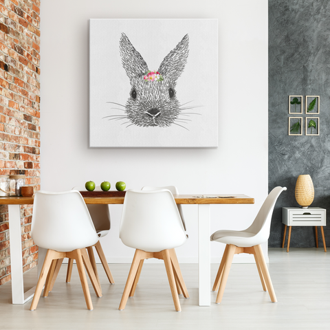 Crowned Bunny Gallery Canvas Wrap