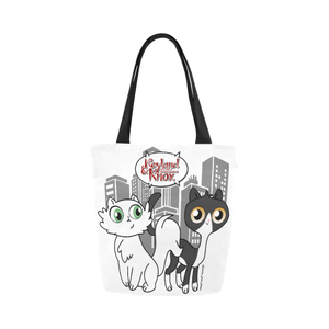Neyland and Knox Canvas Tote Bag-Canvas Tote Bag (1657)-One Size-Kucicat