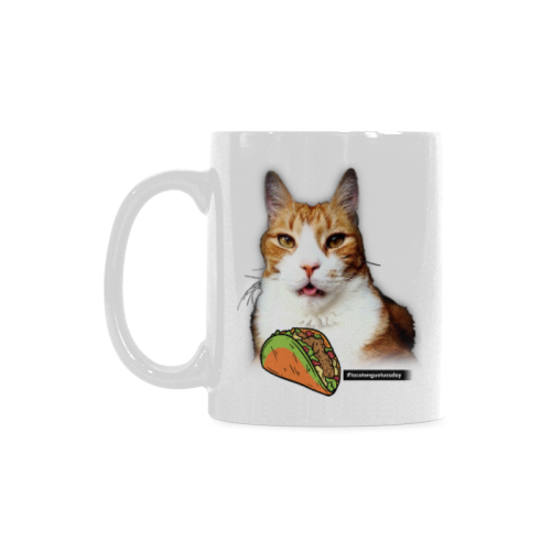 Taco Tongue Tuesday White Mug(11OZ)-White Mug-One Size-Kucicat