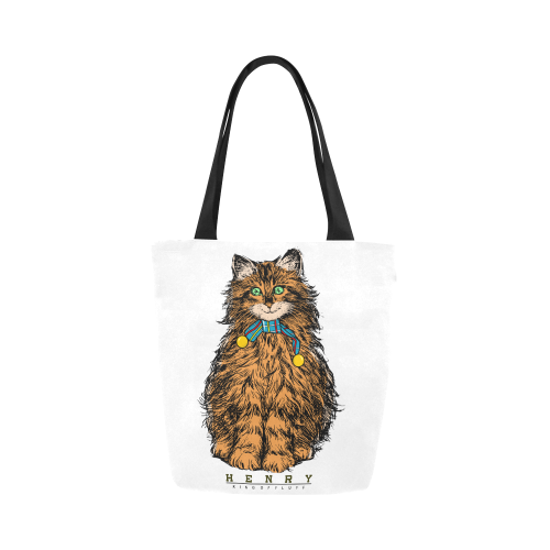 Smiling Henry Canvas Tote Bag-Kucicat