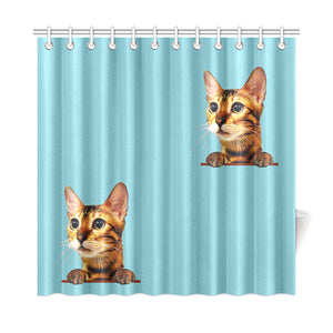 "Simba the Bengal Shower Curtain 72""x72"""