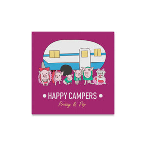 "Prissy & Pop Happy Campers Canvas Print 16""x16"""
