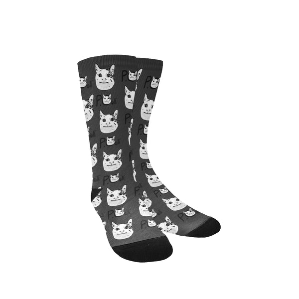 Ollie The Polite Cat All Over Print Socks