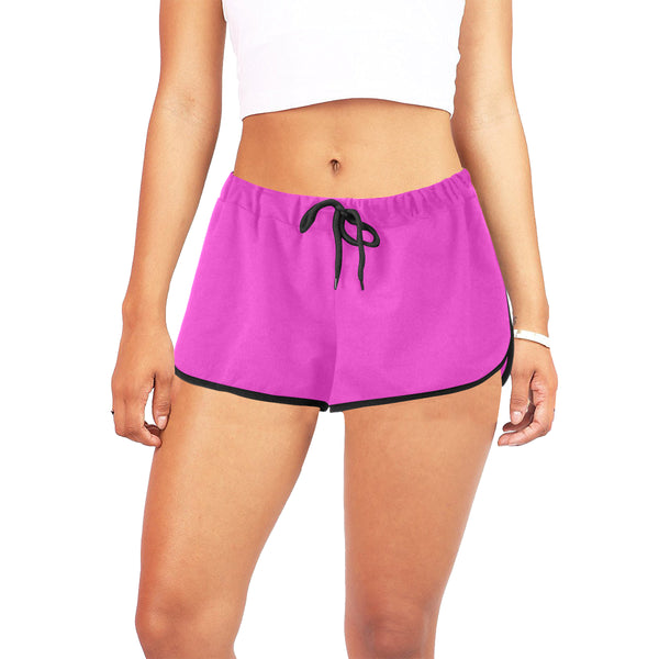 Hata Maka Black Official Pink Women's All Over Print Relaxed Shorts