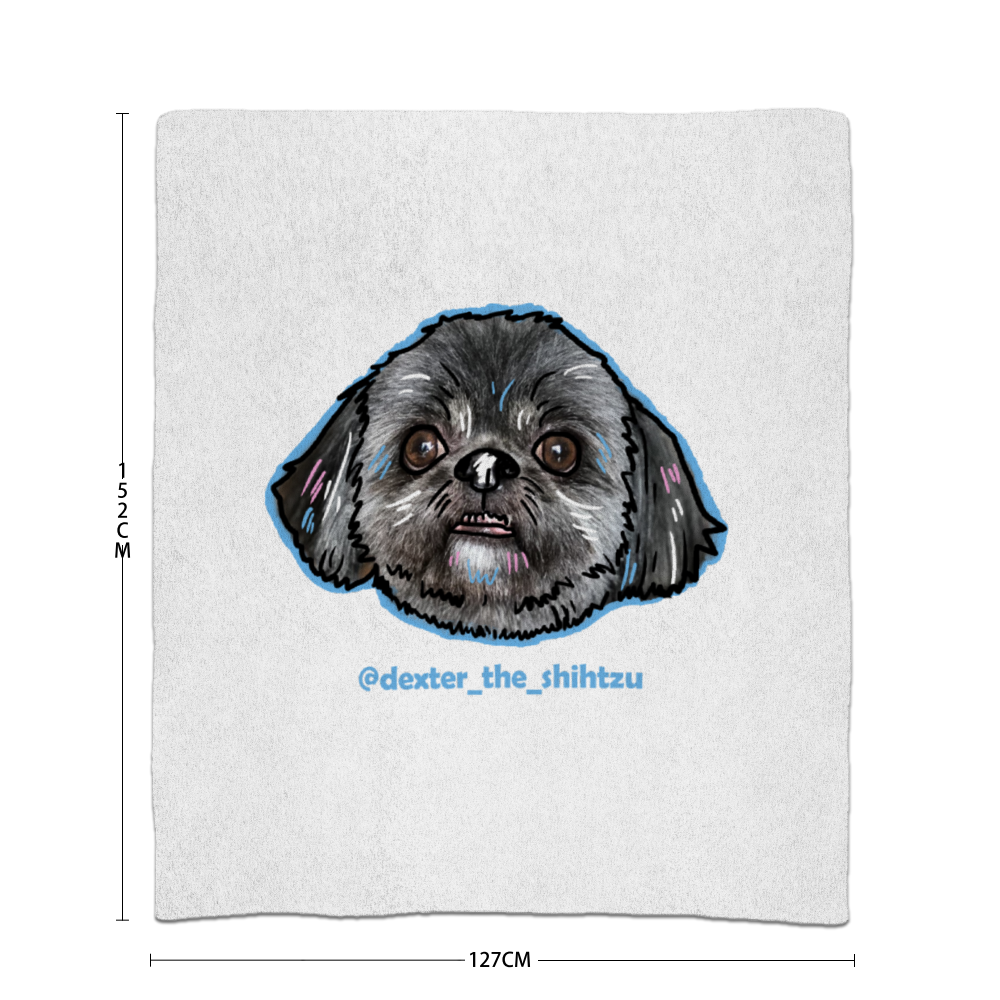 Dexter The Shihtzu Head Official Blanket