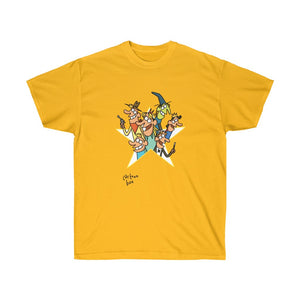 Cartoon Box Party T-shirt