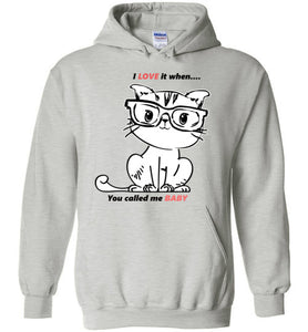 Kiki The Kind Cat Jacket Love When You Called Me Baby Hoodie-Ash-S-Kucicat