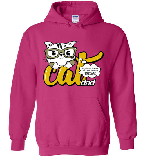Cat Dad Unisex Hoodie Jacket Anyone Can Be A Dad, But It Took Someone Special to be a Cat Daddy S-2XL-Hoodie-Heliconia-S-Kucicat