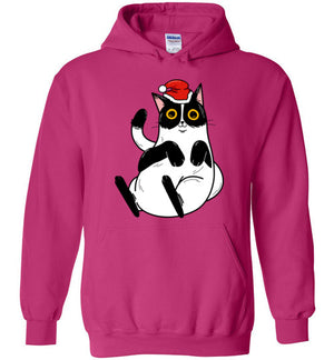 Christmas Cat Men's Women's Hoodie-hoodie-Heliconia-S-Kucicat