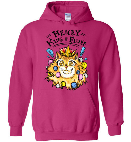 Henry King of Fluff Unisex Hoodie-Hoodie-Heliconia-S-Kucicat
