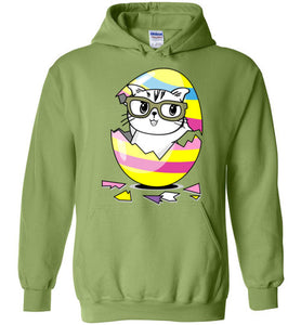 Kiki the Kind Cat Easter Jacket - Cracked from an Egg Hoodie-Jacket-[Color]-[Material]-[Size]-Kucicat