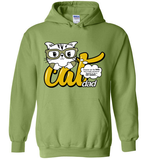 Cat Dad Unisex Hoodie Jacket Anyone Can Be A Dad, But It Took Someone Special to be a Cat Daddy S-2XL-Hoodie-Kiwi-S-Kucicat