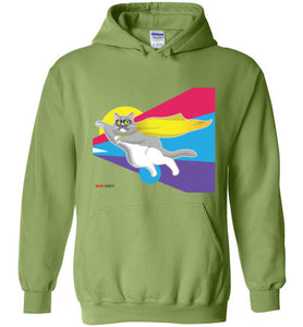 Moe Grey Flying Unisex Hoodie Jacket S-2XL
