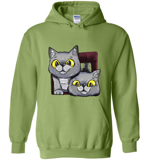 Exo and Exi the Excited Cats Unisex Hoodie Jacket S-2XL-Hoodie-Kiwi-S-Kucicat
