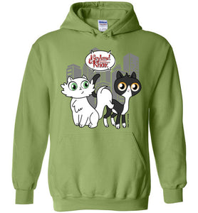 Neyland and Knox the Cat Unisex Hoodie Jacket S-2XL