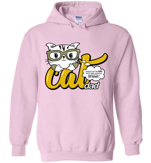Cat Dad Unisex Hoodie Jacket Anyone Can Be A Dad, But It Took Someone Special to be a Cat Daddy S-2XL-Hoodie-Light Pink-S-Kucicat