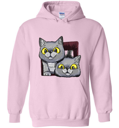 Exo and Exi the Excited Cats Unisex Hoodie Jacket S-2XL-Hoodie-Light Pink-S-Kucicat