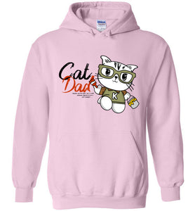 Cat Dad Unisex Hoodie Jacket Special to be a Cat Daddy S-2XL-Hoodie-Light Pink-S-Kucicat