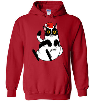 Christmas Cat Men's Women's Hoodie-hoodie-Red-S-Kucicat