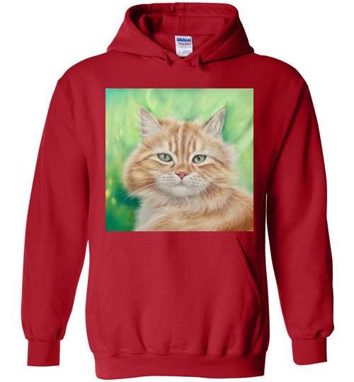 Henry King Cat Painting Hoodie-Jacket-Red-S-Kucicat
