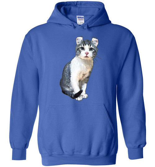 Curly Snow Cat Unisex Hoodie Jacket S-2XL-Royal Blue-S-Kucicat