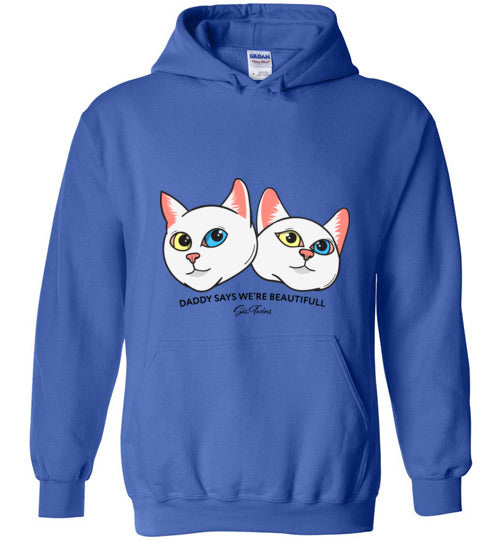 Iriss & Abyss sis.twins Unisex Hoodie Jacket S-2XL-Hoodie-Royal Blue-S-Kucicat