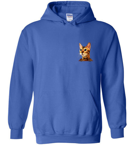 Simba the Bengal Unisex Hoodie Jacket S-2XL