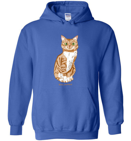 Max Max the Cat Unisex Hoodie Jacket S-2XL-Hoodie-Royal Blue-S-Kucicat
