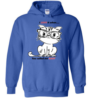 Kiki The Kind Cat Jacket Love When You Called Me Baby Hoodie-Royal Blue-S-Kucicat