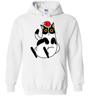 Christmas Cat Men's Women's Hoodie-hoodie-White-S-Kucicat