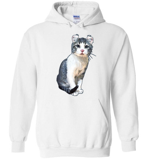 Curly Snow Cat Unisex Hoodie Jacket S-2XL