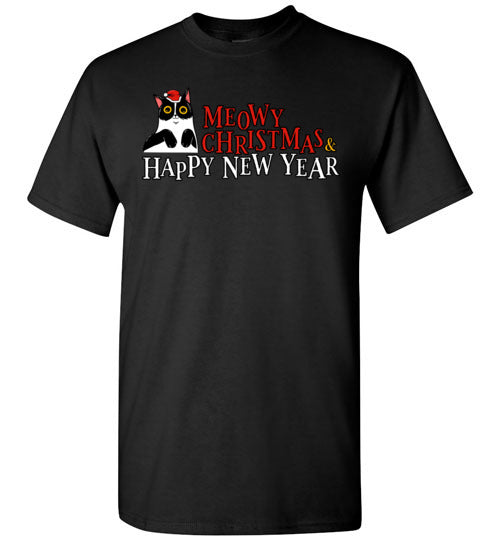 Meowy Christmas and Happy New Year Happy Cat Men's T-shirt-T-shirt-Kucicat