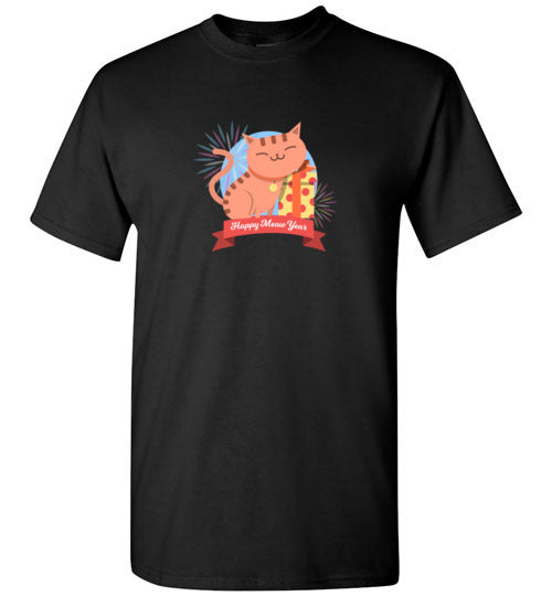 Happy Meow Year Cat T-shirt with Multi-Colors Options S-5XL-T-shirt-Kucicat