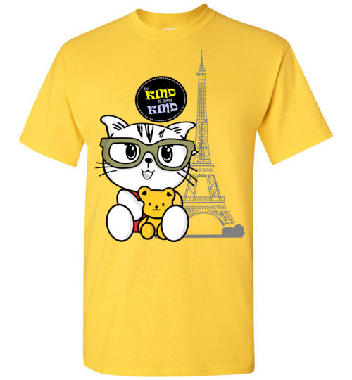 Kiki the Kind Cat - Be Kind to Every Kind Kids T-shirt-Long Sleeve T-shirt-Kucicat