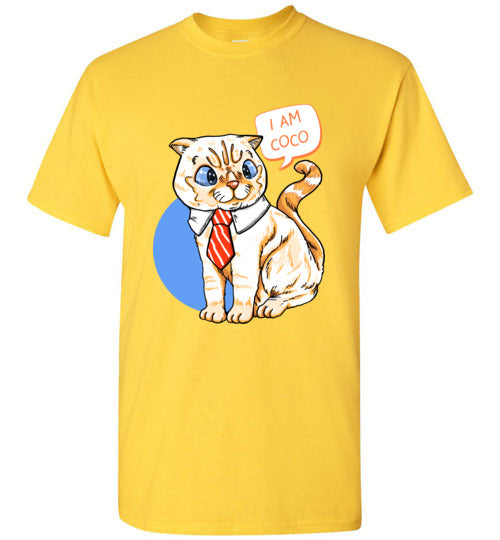 I Am Coco Cat with Tie Men's T-shirt-All Over Print-Kucicat