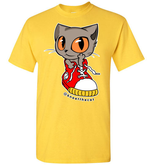 Knoet Cat Kids T-shirt On The Shoes-T-shirt-Daisy-Youth XS-Kucicat