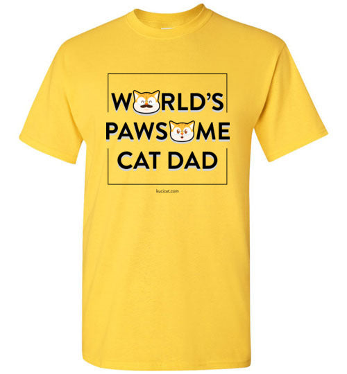 Cat Dad Kids T-shirt World's Pawsome Cat Dad Series 2-T-shirt-Kucicat