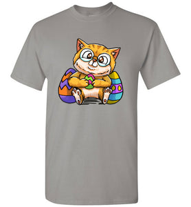 Nedi The Nerdy Cat with Easter Egg Men's T-shirt